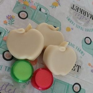 2 lipbalms /Applejack Peel homemade soaps 3 pack!
